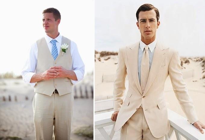 Roupas de noivos casamento na praia