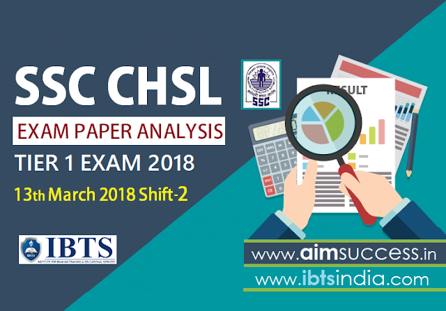 SSC CHSL Tier-I Exam Analysis 13th March 2018: Shift - 2