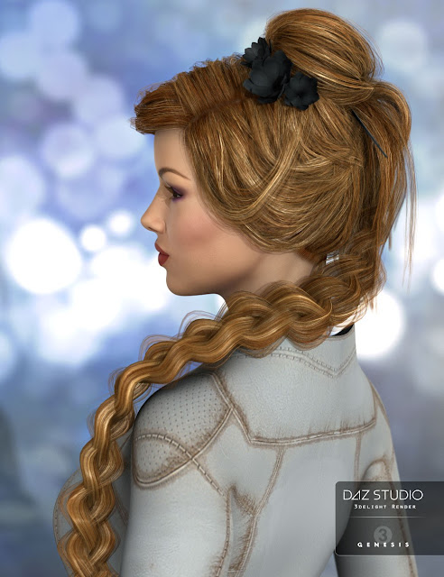 Maia Hair for Genesis 3 Female