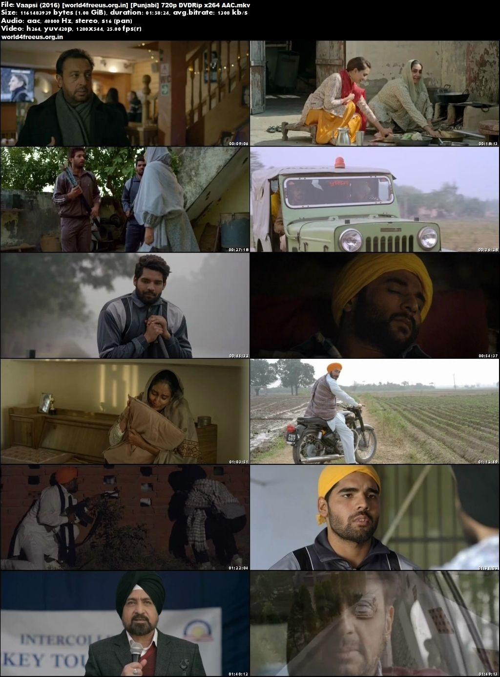 Vaapsi 2016 Full Punjabi Movie Download 720p