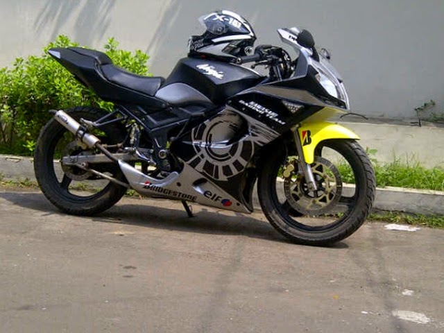 Modifikasi Kawasaki Ninja 150 Rr Tahun 2010  Gambar Motor Kawasaki Ninja Rr  Tahun 2010NyuBull CN. Modifikasi Motor Ninja Rr Warna Hitam