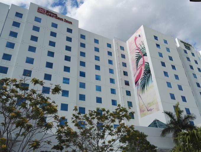 Kokemuksia Miami Beachin hotelleista ja majoituksista lasten kanssa sekä leikkipaikoista / Homewood Suites by Hilton Dolphin Mall