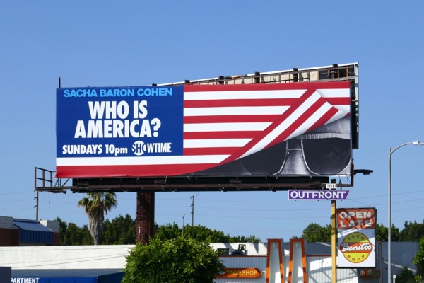 Who Is America season 1 billboard