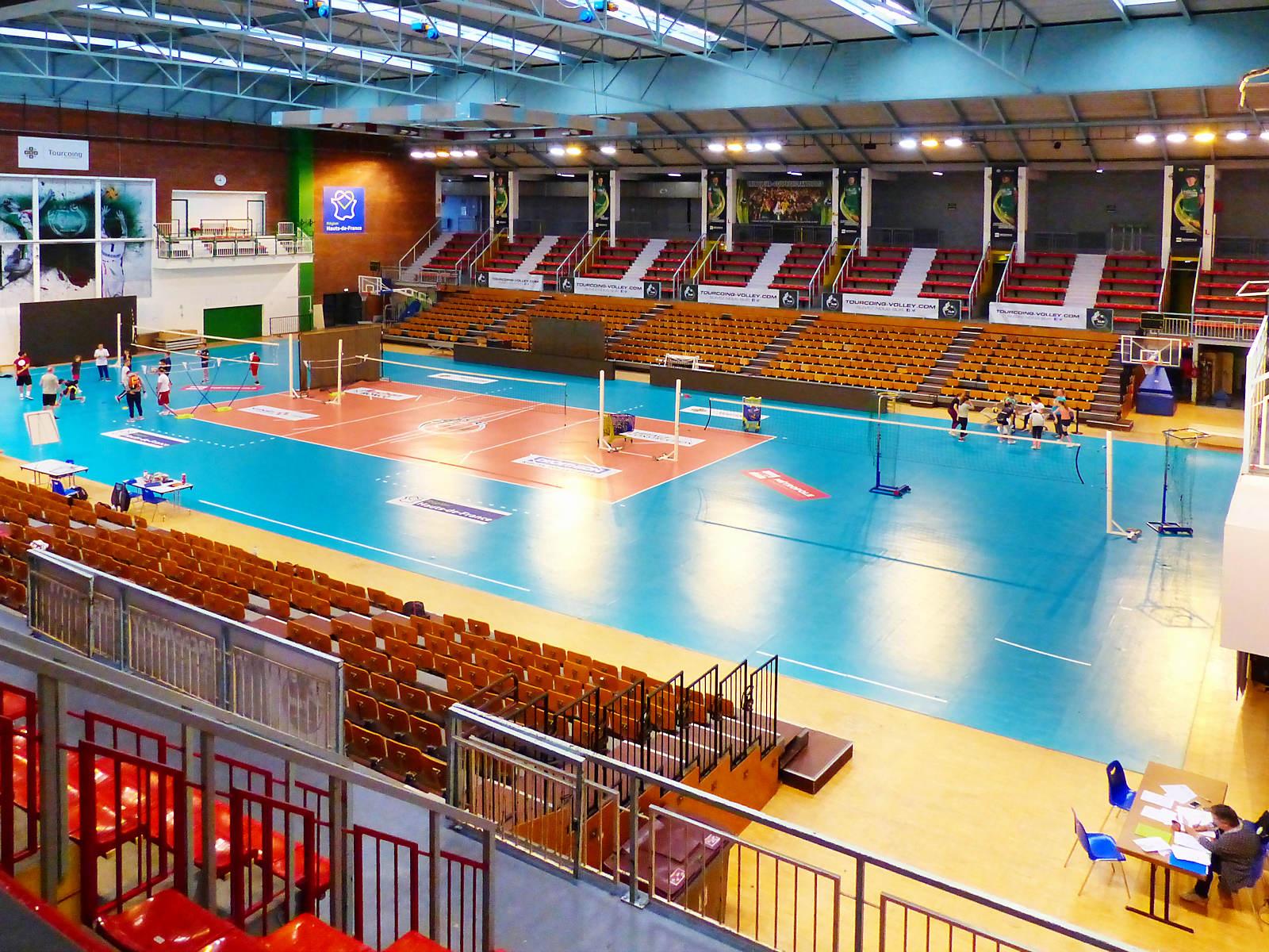 Salle des matchs et tribunes du TLM Volley Tourcoing Lagrange