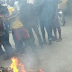 Graphic Photos: Suspected thief burnt to death by angry mob in Lagos