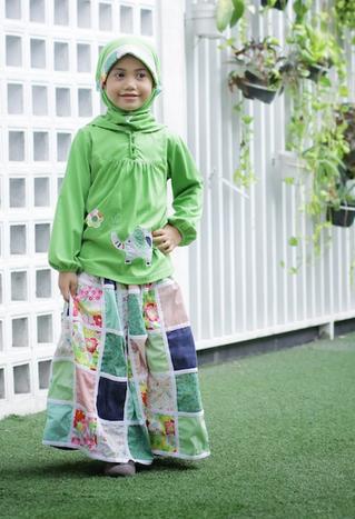 Gambar Baju Muslim Model Baru untuk Anak Perempuan