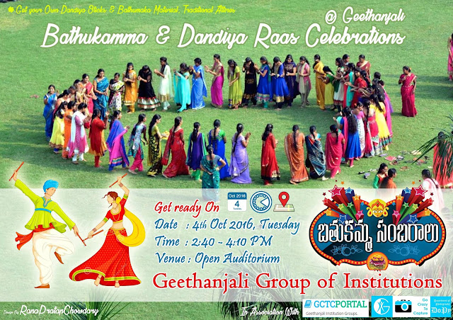 BATHUKAMMA & DANDIYA RAAS CELEBRATIONS 2016