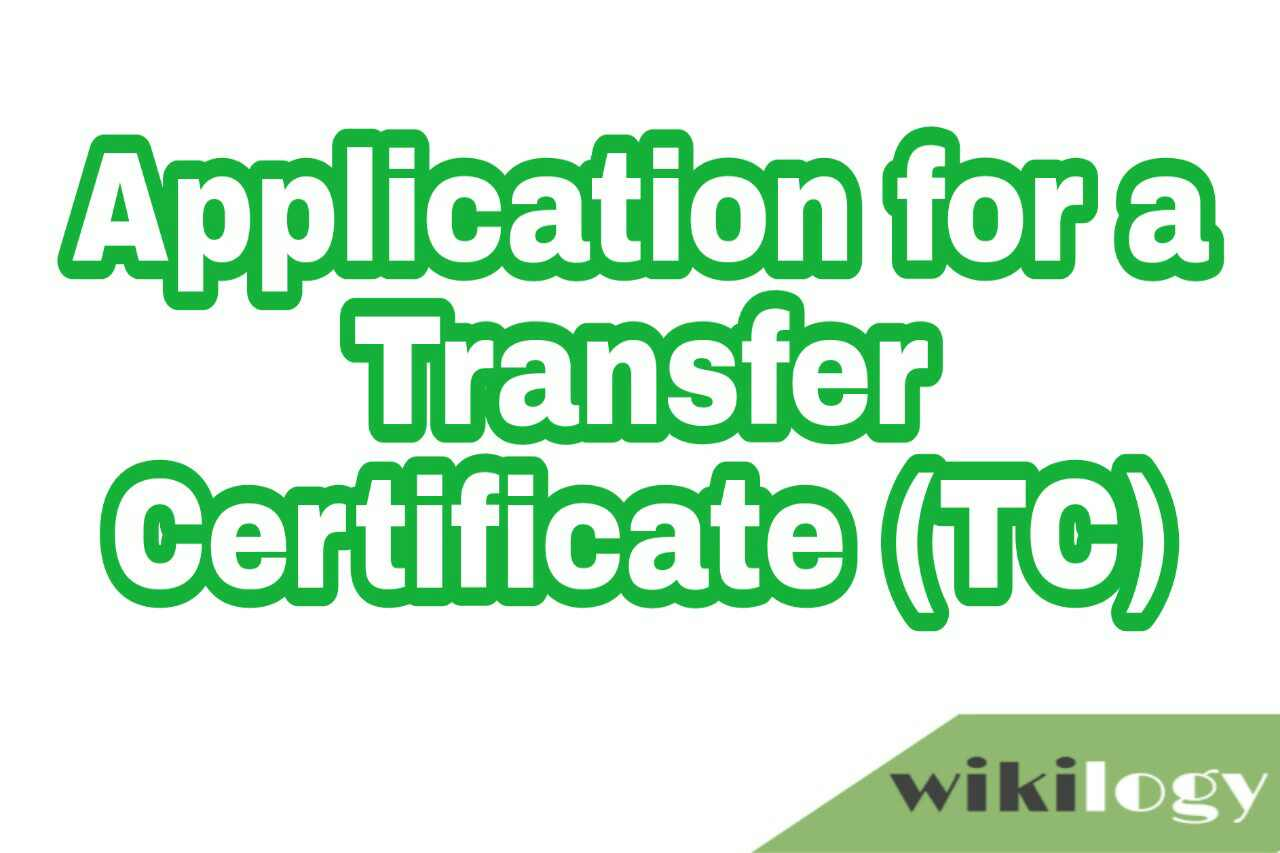 application for transfer certificate