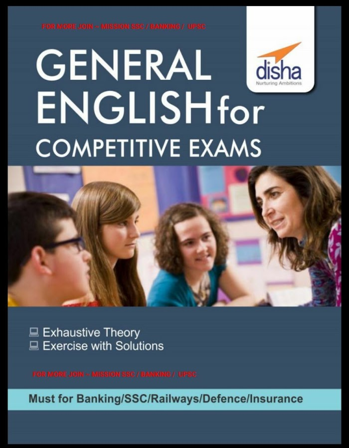 DIsha's General English for Competitive Exams Book PDF Download