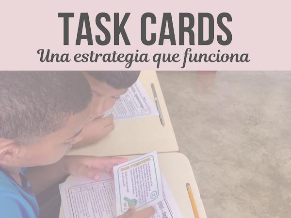 Tarjetas de trabajos (Task Cards) una estrategia que funciona