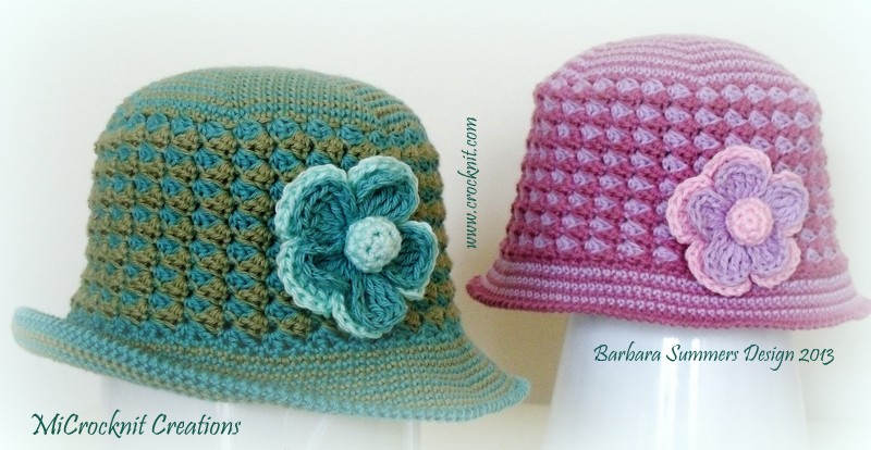 Microcknit Creations Sunny Days Sun Hats Summer Crochet