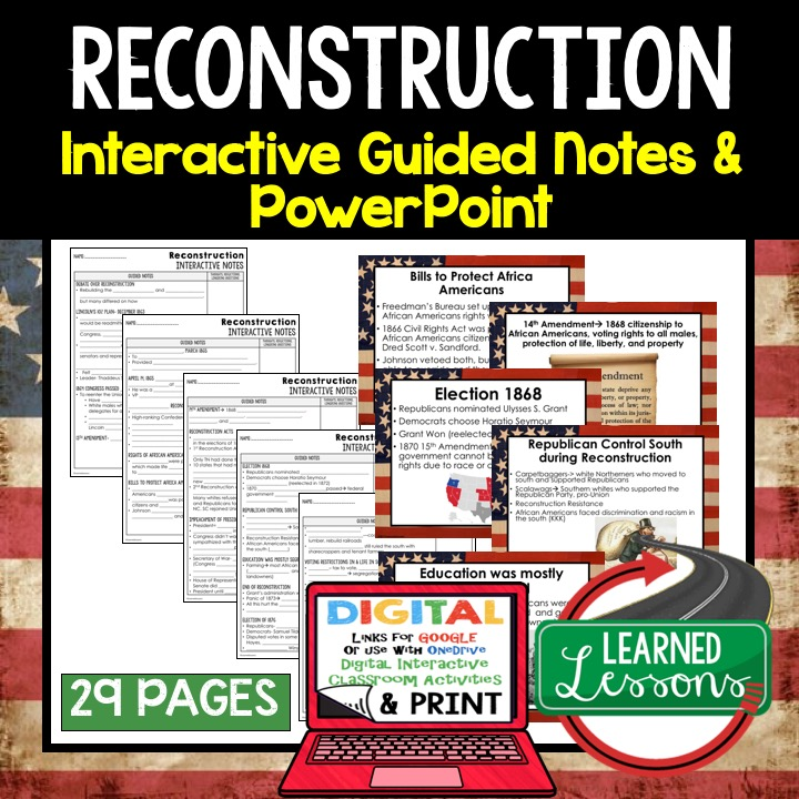 early american history guided notes and powerpoints learned