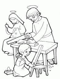 Dibujos De Jesús María Y José Para Colorear Dibujos
