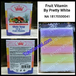 Fruitamin Gluta Soap 10 in 1 Asli