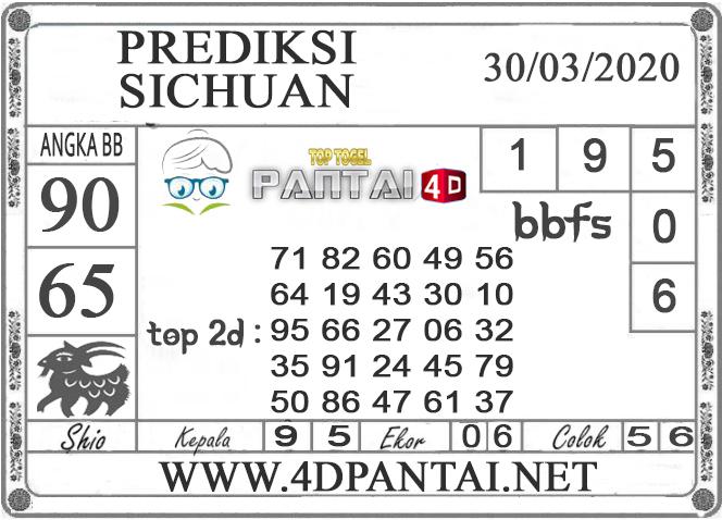 PREDIKSI TOGEL SICHUAN PANTAI4D 30 MARET 2020