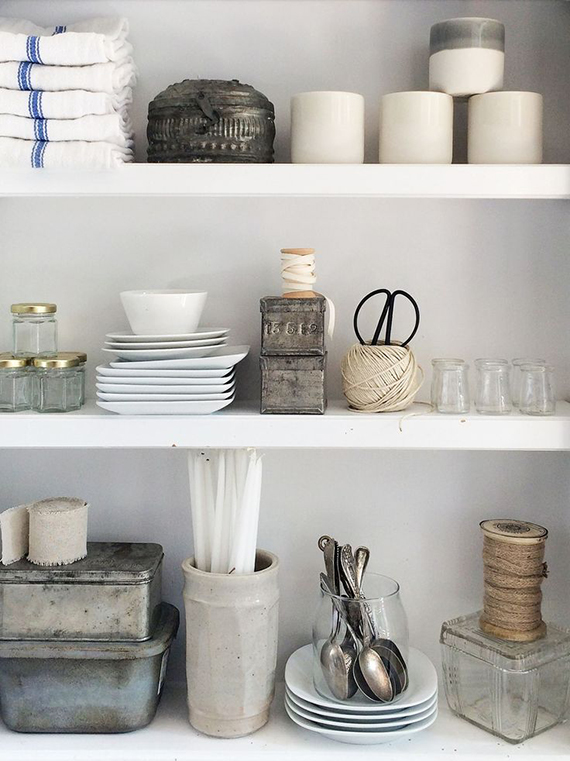 Open kitchen shelving | mizmaggieb