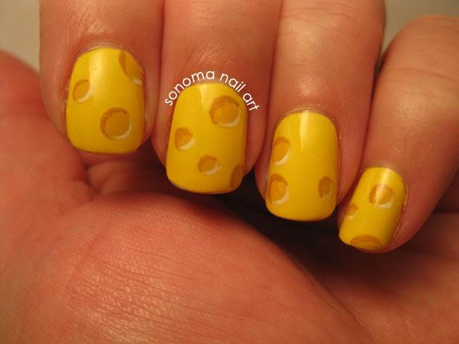 Sonoma Nail Art Cheesy Nail Art