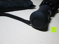 Griff oben: GHB Automatic Regenschirm Taschenschirm mit 96 cm Durchmesser Schwarz