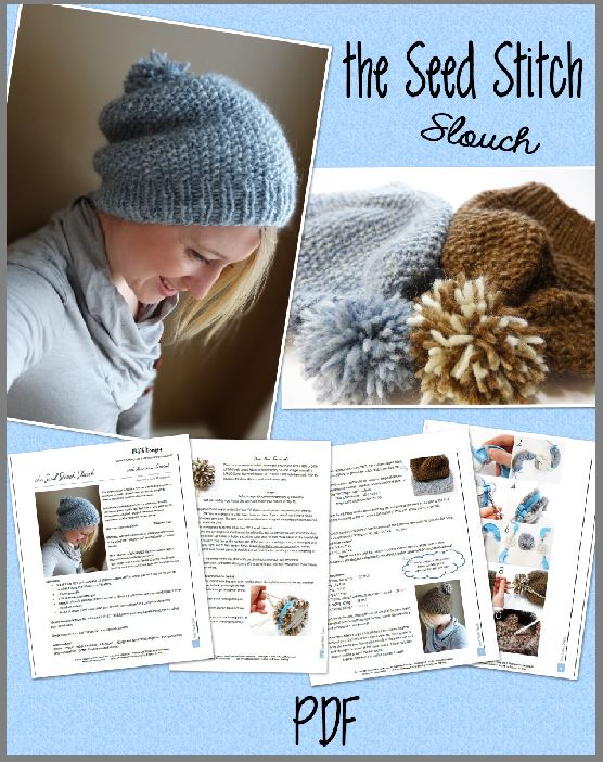 The Seed Stitch Slouch