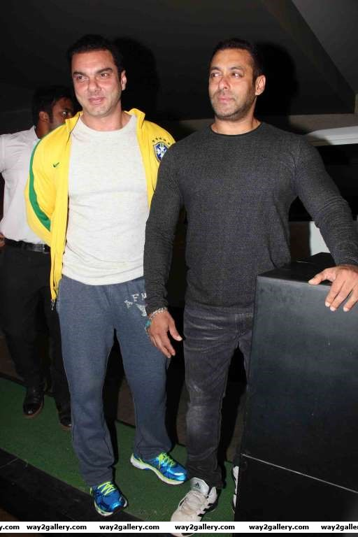 Salman and Sohail Khan attended the special screening of The Jungle Book
