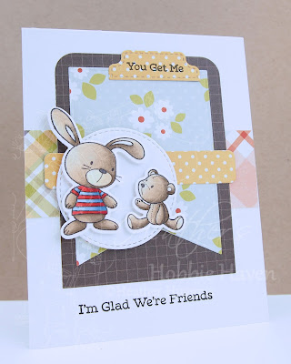 Heather's Hobbie Haven - Just for Fun Saturday Card - Snuggle Bunnies 1