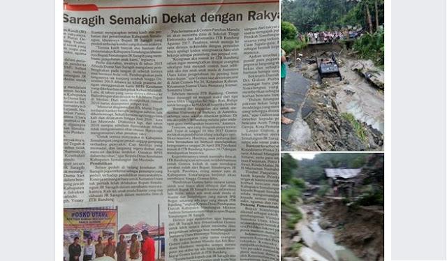 """Masukan Untuk Artikel JR Saragih di Koran Analisa Yang Berjudul: """"JR Saragih Semakin dekat dengan Rakyat"""""""