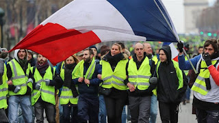 """Thousands of """"yellow vest"""" protesters took to the streets of French cities on Saturday in the fifth weekend of demonstrations against Emmanuel Macron's government, ignoring calls to stay home."""