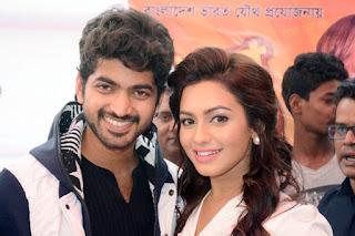 nusrat faria and om in movie promo