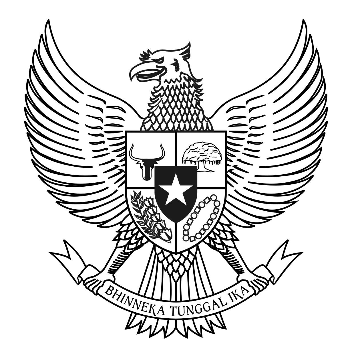Fourth image of Gambar Burung Garuda Pancasila Untuk Mewarnai with Logo Garuda Pancasila BW | Hitam Putih vector cdr ...