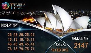 Prediksi Angka Togel Sidney Selasa 19 Februari 2019