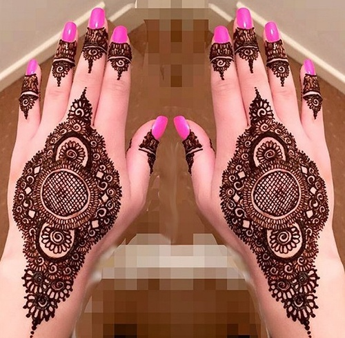 15 latest amazing pakistani mehndi designs images easy for Pakistani simple house designs