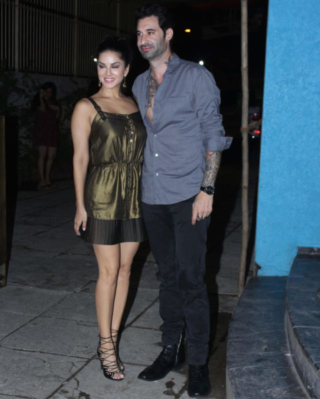 Sunny Leone At Arbaaz Khan Birthday Celebrations Mumbai