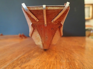 Bow detail on model Thai market boat
