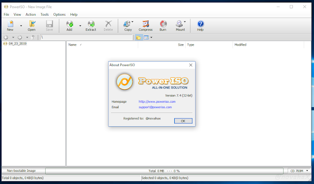 Poweriso registration code free download