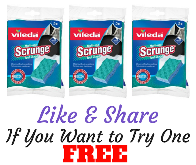 Vileda  Scrunge Multi-Use Scrub Sponge Product Testing Offer