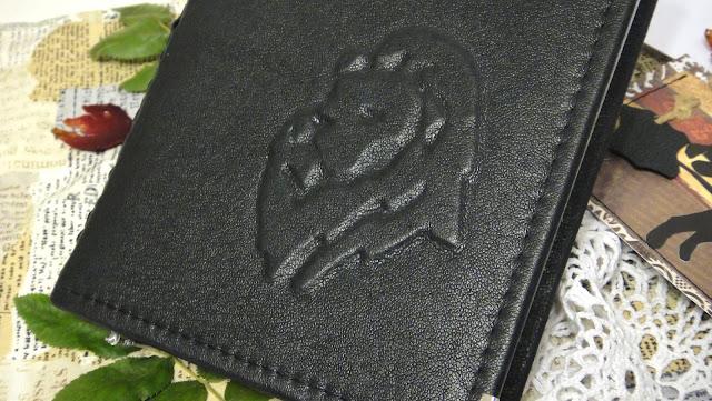 Датированный ежедневник 2016 - кожаный переплет, Лев на обложке. Натуральная кожа, цвет - черный
