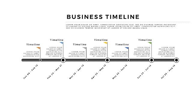 Free Horizontal Business Timeline PowerPoint Template Slide 4