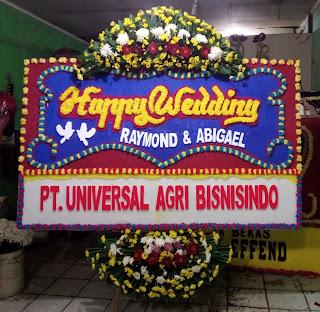Bunga Papan Happy Wedding (WS-111)