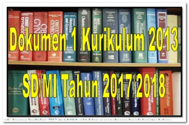 Dokumen Revisi Final Kurikulum 2013 SD/MI Tahun 2017/2018
