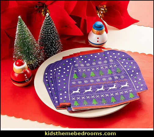 Ugly Christmas Sweater napkins  ugly sweaters - Christmas ugly sweaters  - decorate yourself - womens ugly sweaters - ugly mens sweaters - embellished ugly sweaters - fun sweaters - novelty sweaters - Christmas party sweaters - quirky party sweaters - Christmas party hats - ugly sweater party decorations - ugly Christmas slippers - peppermint candy cane Leggings -