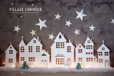 villaggio di carta natalizio