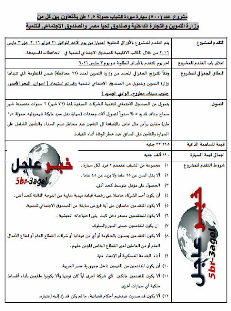 وزارة التموين تفتح باب التقديم لفرص العمل للشباب بجريدة الاخبار اليوم والتقديم لـ 3 / 3 / 2016