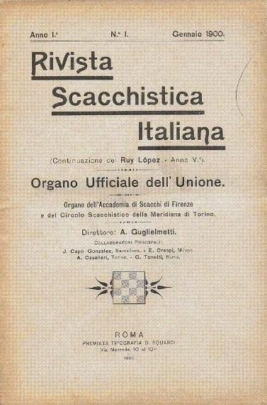 Rivista Scacchistica Italiana, Número 1