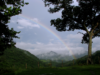 rainbow in valley