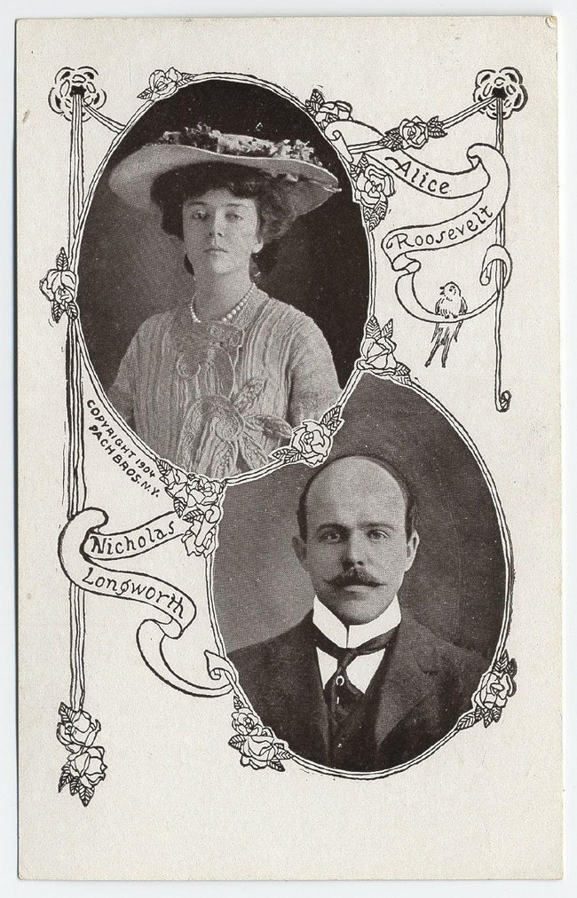 Alice Roosevelt and Nicholas Longworth wedding card.