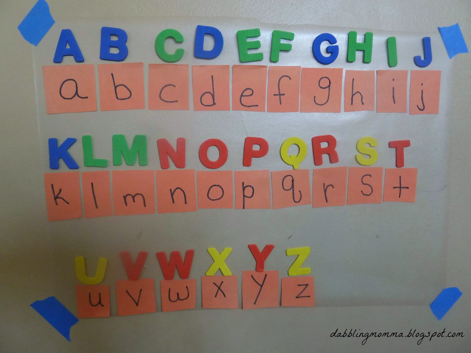 Dabblingmomma Matching Uppercase And Lowercase Letters