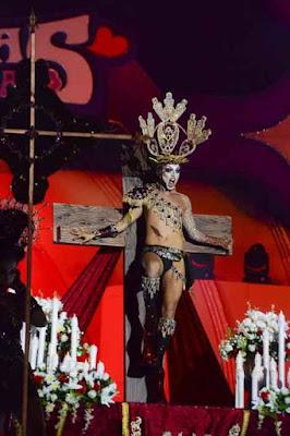 Drag  Sethlas, el Obispo de Canarias y el presidente del Cabildo de Tenerife