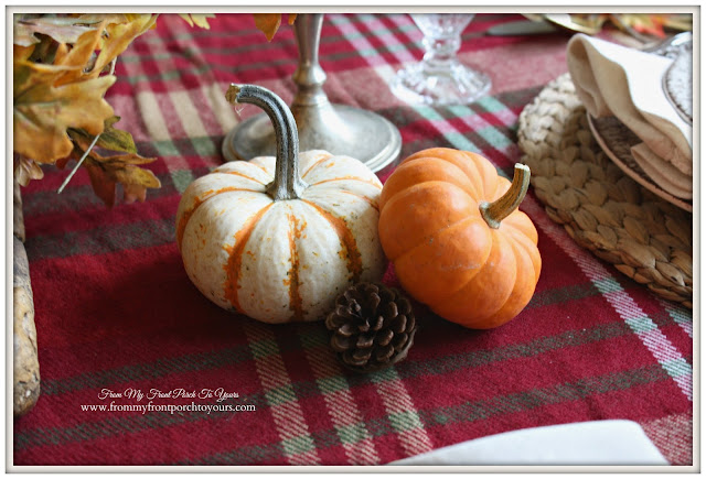 French Country-Thanksgiving-Table Setting-Pumpkins-From My Front Porch To Yours