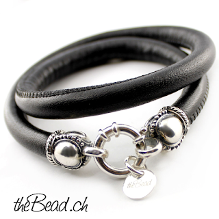 Krönchen Silberarmband und Lederarmband  und partnerarmbänder von theBead