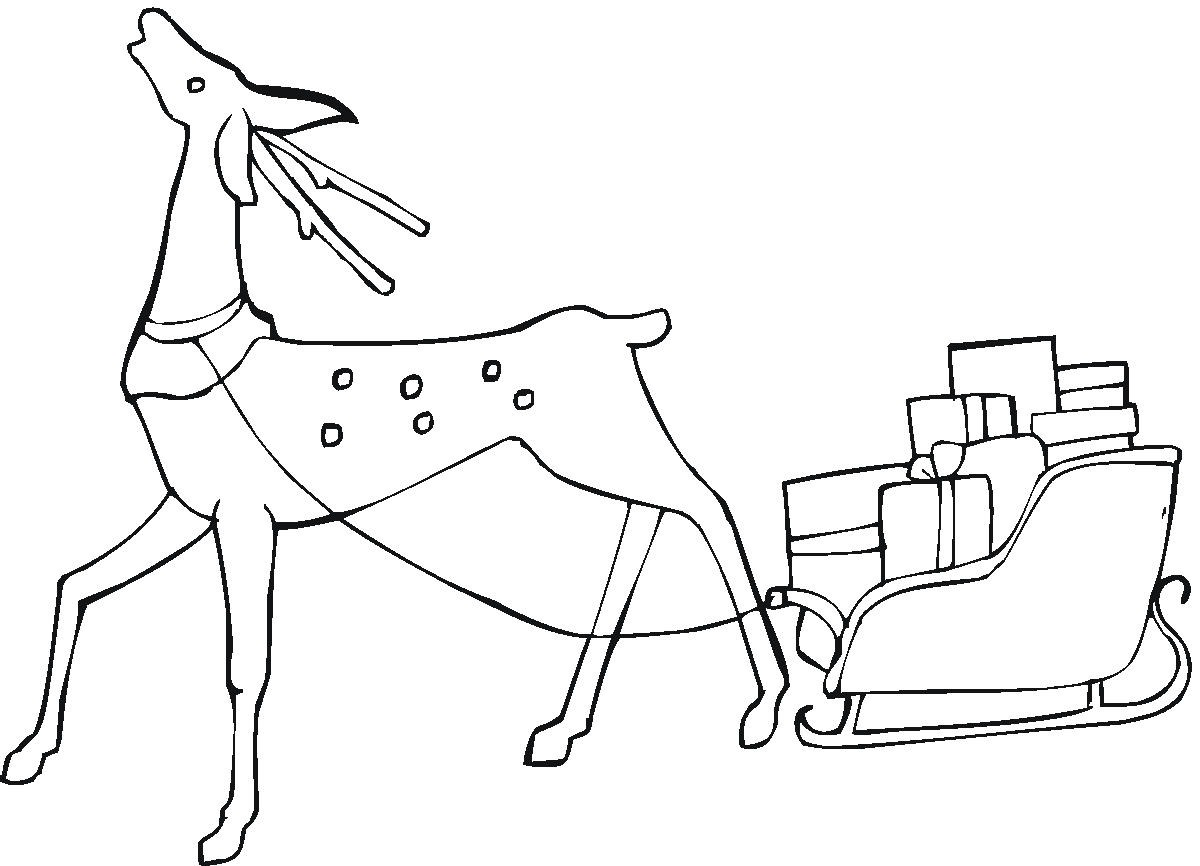 13 Christmas Reindeer Coloring Pages